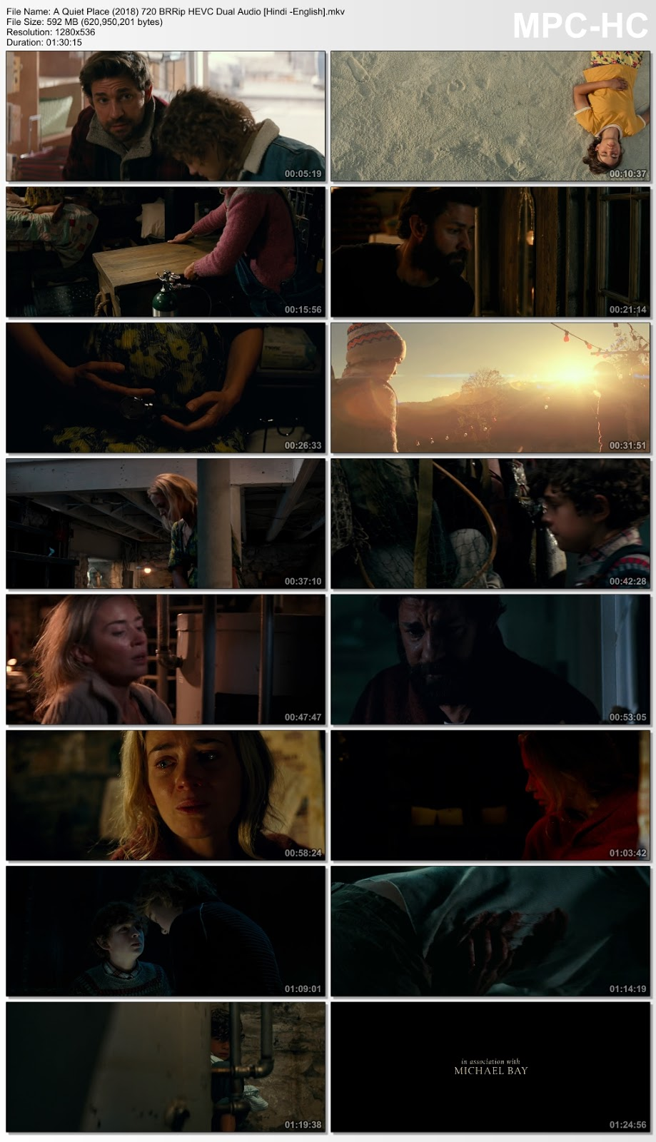 A Quiet Place (2018) 720 BRRip HEVC Dual Audio [Hindi -English] 600MB Desirehub