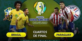 اون لاين مشاهدة مباراة البرازيل وباراجواي بث مباشر 28-06-2019 بطولة كوبا امريكا اليوم بدون تقطيع