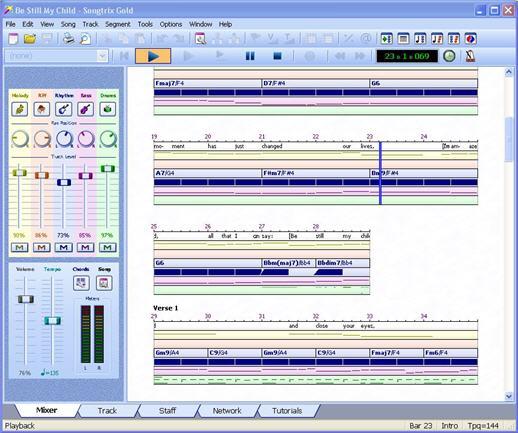 تحميل برنامج تأليف الموسيقى ChordWizard Software SongTrix Gold v3