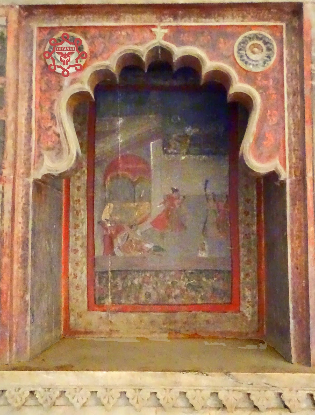 Murals On Walls Of Bundi Fort