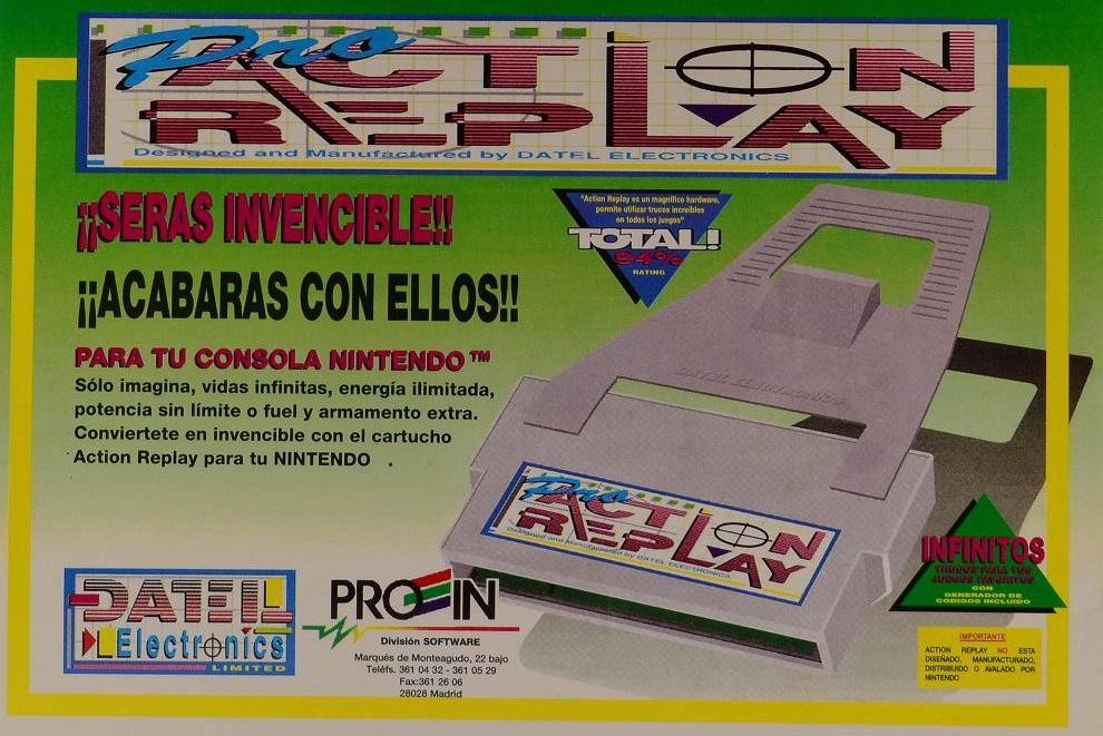 pro action replay nes