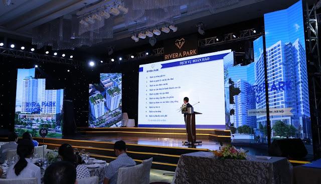 Ông Nguyễn Mạnh Hà giám đốc Long Giang Land phát biểu về ý tưởng thương hiệu
