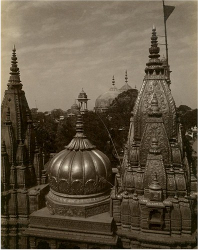 The Kashi Vishwanath Temple of Varanasi (Benares) - c1875