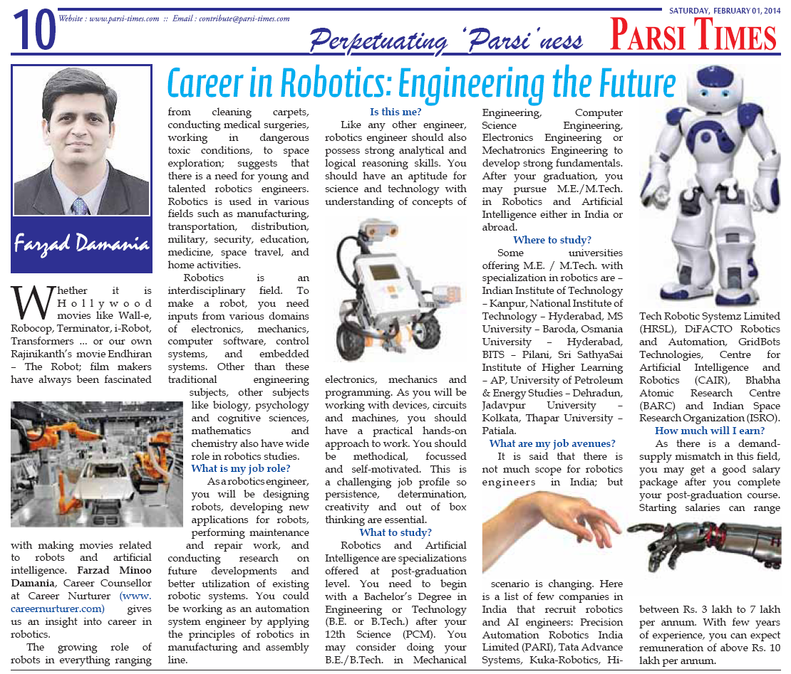 Career Counselling Robotics