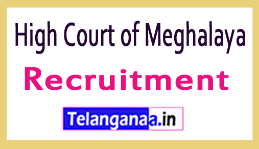 High Court of Meghalaya Recruitment