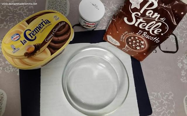 Ricetta: Torta gelato con Biscotti, Nutella e Lamponi