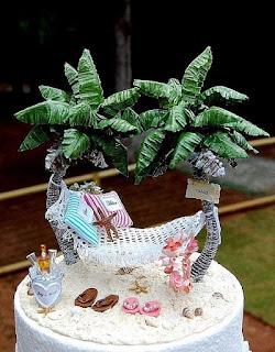 Palm Tree Hawaiian Wedding Cake Toppers