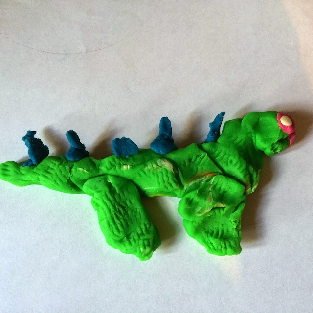 Playdough dinosaur