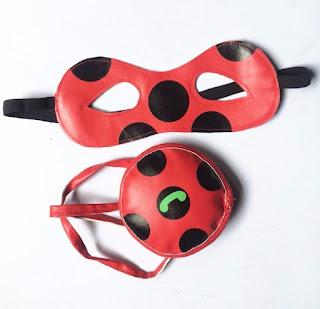 Miraculous Ladybug costume in lycra elasticizzato + maschera carnevale + pochette yoyo travestimento cosplay festa a tema eta misura taglia bambina 4 5 6 7 8 9 10 11 12 anni