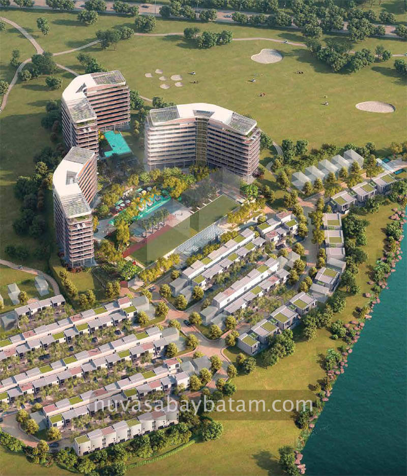 The Nove Nuvasa Bay Batam Aerial View