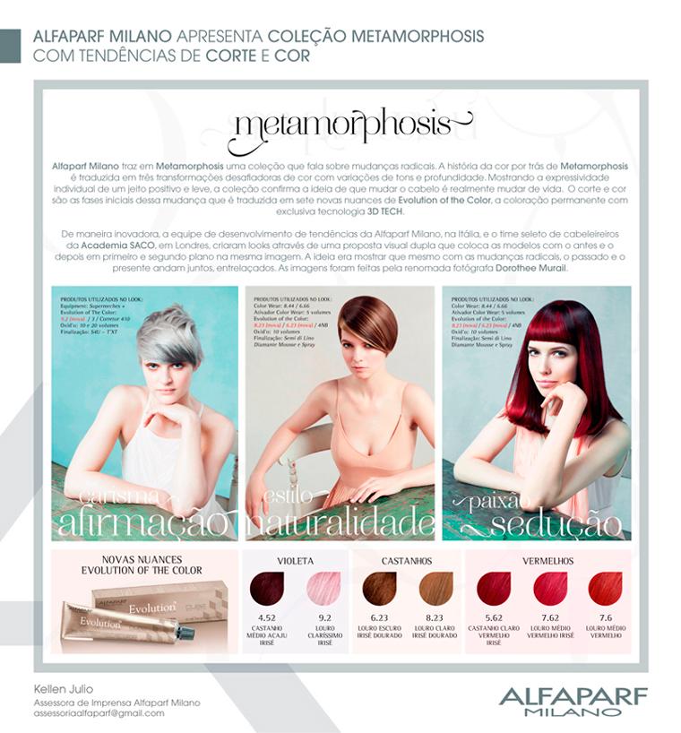 Coleção Metamorphosis - Alfaparf Milano