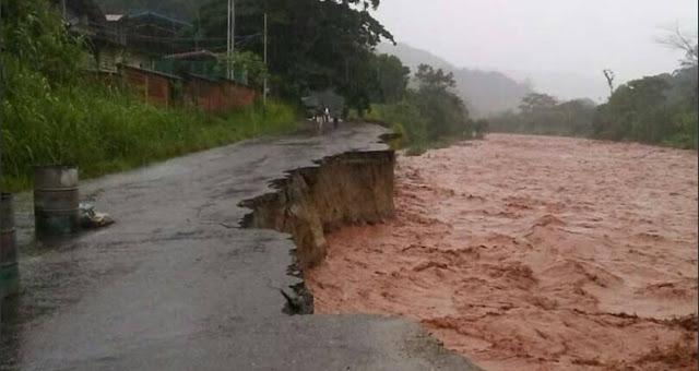 La crecida del Río Torbes en la entidad socavó parte de la vialidad