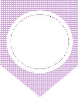 Banderines de  Lechuza Púrpura para imprimir gratis.