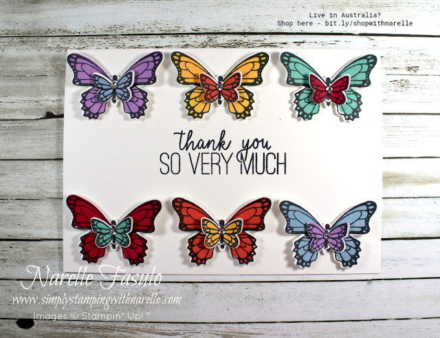 Know a butterfly lover. Then they will love you forever when you give them a card like this made using our Butterfly Gala stamp set and matching punch. See them here - http://bit.ly/ButterflyGalaBundle