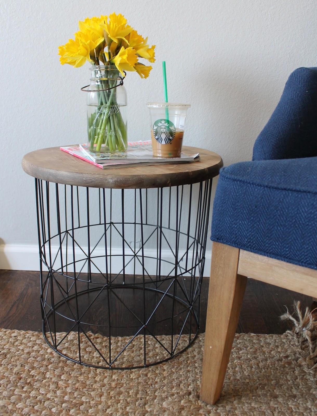 Wonderfully made diy metal side table for Diy metal end table