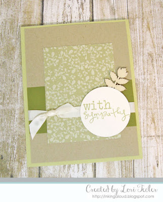 With Sympathy card-designed by Lori Tecler/Inking Aloud-stamps from Verve Stamps