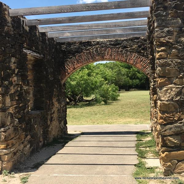 entrance to Mission Espada in San Antonio Missions National Historical Park in San Antonio, Texas