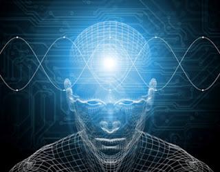 [pensiero che passa attraverso la mente umana come un informazione o onda]