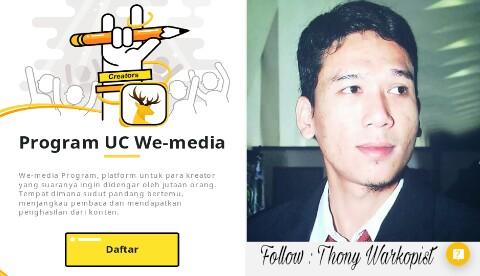 cara daftar uc news we-media