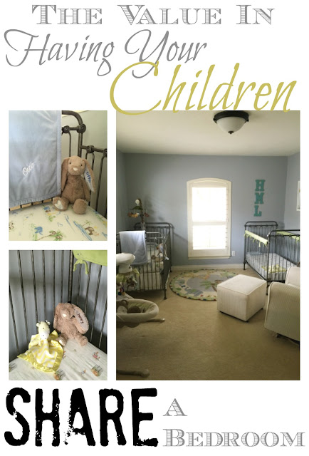 In an indenpendednt-contered culture, my kids will be sharing a bedroom to learn some old fashioned lessons