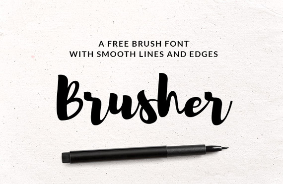 brusher free lettering style font