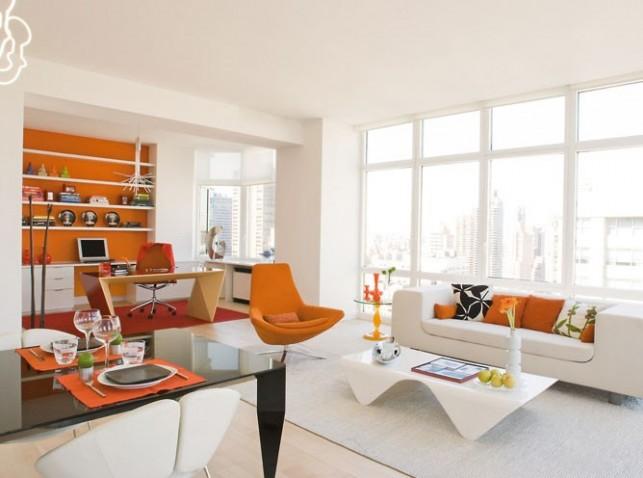 La sala y comedor c mo arreglar los muebles en una for Oficina de orange