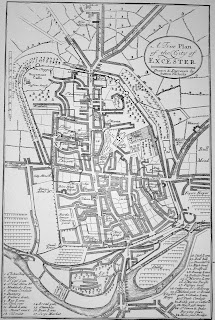 Nichols map of Exeter,1723