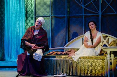 Ektaterina Mikhnovets, Anastasia Moskvina - Tchaikovsky Eugene Onegin - Belarus Opera at Birgitta Festival - photo Heiti Kruusmaa