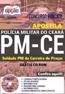 Apostila Concurso Polícia Militar do Ceará 2016 Soldado PM CE Carreira de Praças PM-CE.