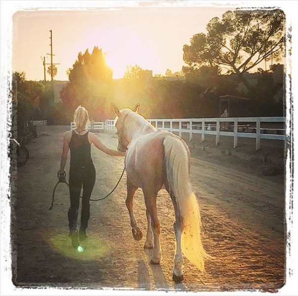 Amber Heard riding horse