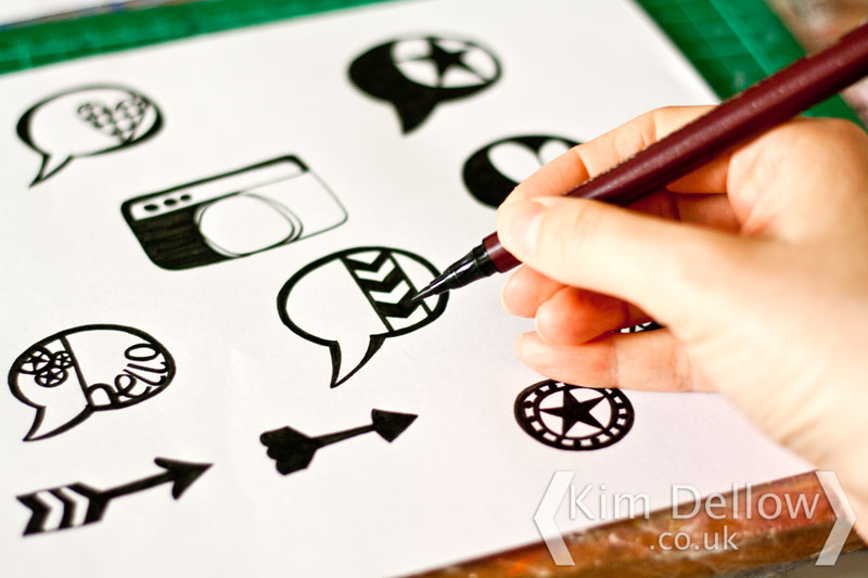 Drawing images to upload into the DIY Stamps with the Cricut Explore software