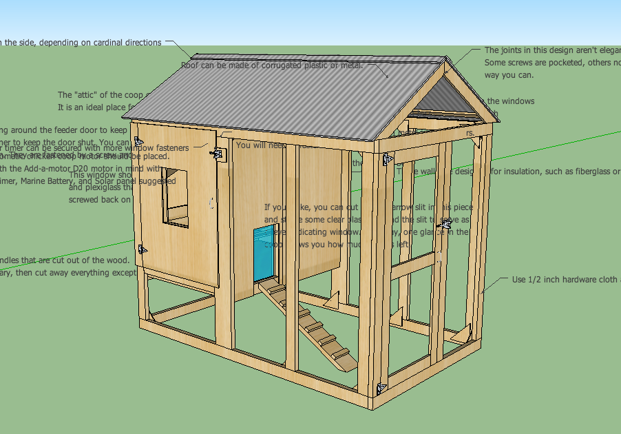 Free printable hen house plans ~ Plan for build chicken coop
