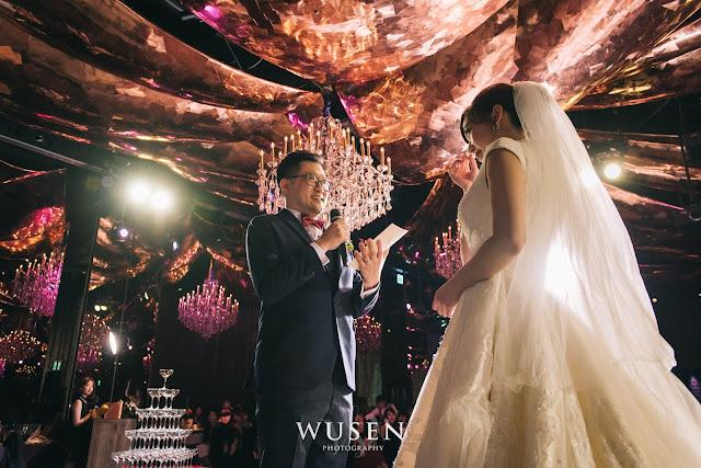 台北婚攝君品酒店天花板進場新郎新娘婚禮誓詞