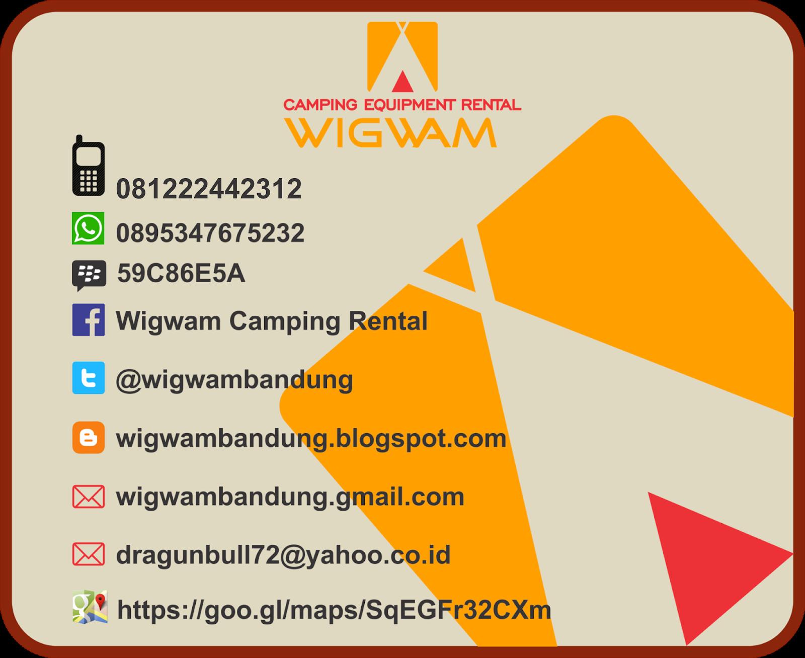 Wigwam Camping Equipment Rental Harga Sewa Tenda Alat Camping Murah Di Bandung