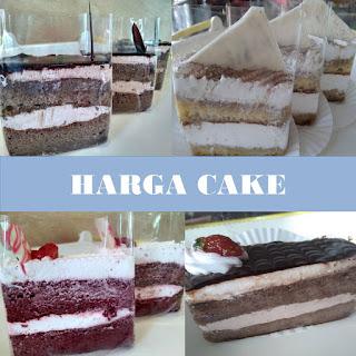 Harga Cake Tart, Harga Cake Slice, Harga Cake Mini, Harga Cake Almond Bakery, Harga Cake Jogja