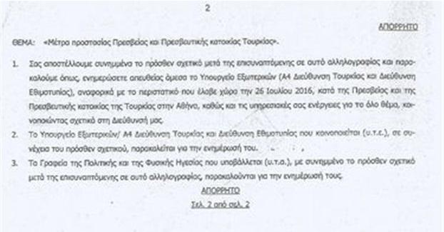 Με νέο απόρρητο έγγραφο επανέρχεται ο «Ρουβίκωνας»
