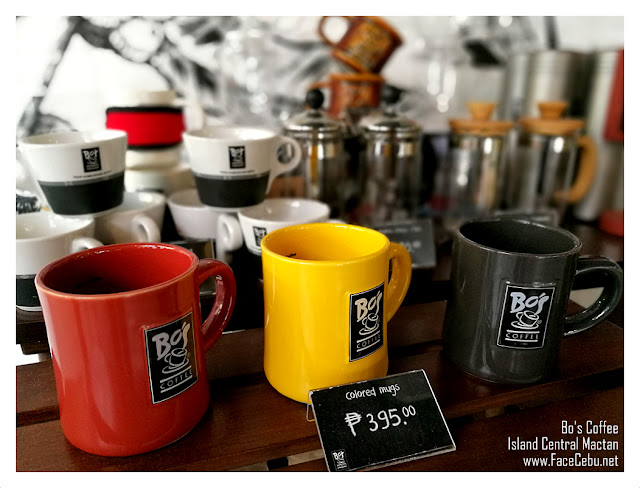 Bo's Coffee Mugs Display at Island Central Mactan