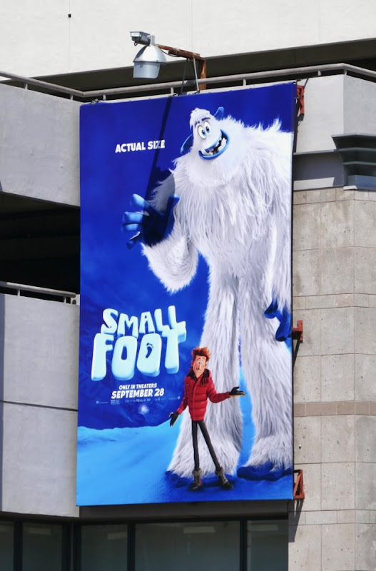 Smallfoot actual size billboard