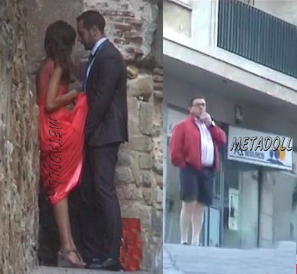 Voyeur couples fucks on the street in public, sex in the bushes. (The Galician Day 16)