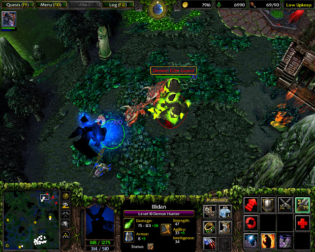 A Destiny of Flame and Sorrow Mission 33 | Illidan Shadow Form Screenshot | Warcraft 3: Reign of Chaos