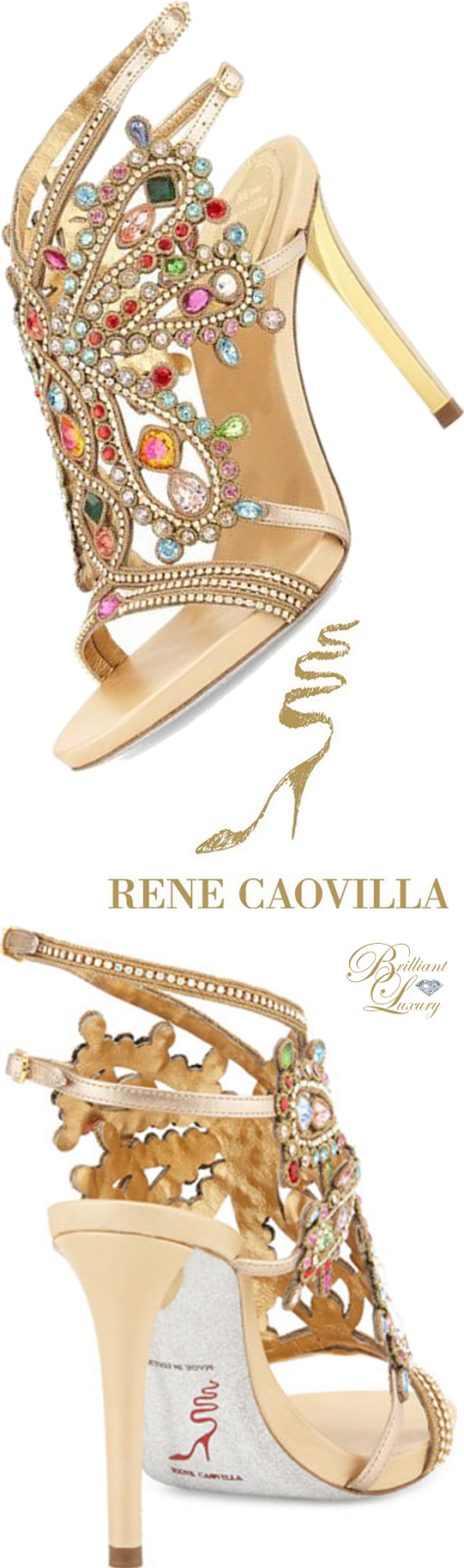 Brilliant Luxury ♦ Rene Caovilla Multi-Crystal Strappy Sandal
