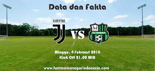 Data dan Fakta Liga Fantasia Serie A Gio 23 Juventus vs Sassuolo Fantasi Manager Indonesia
