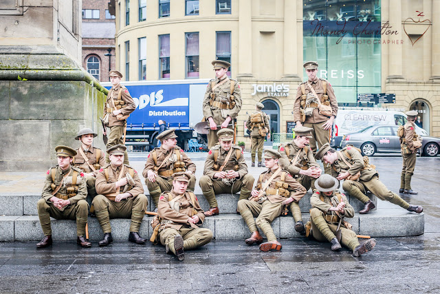 soldiers at monument in newcastle for #wearehere, Mandy Charlton
