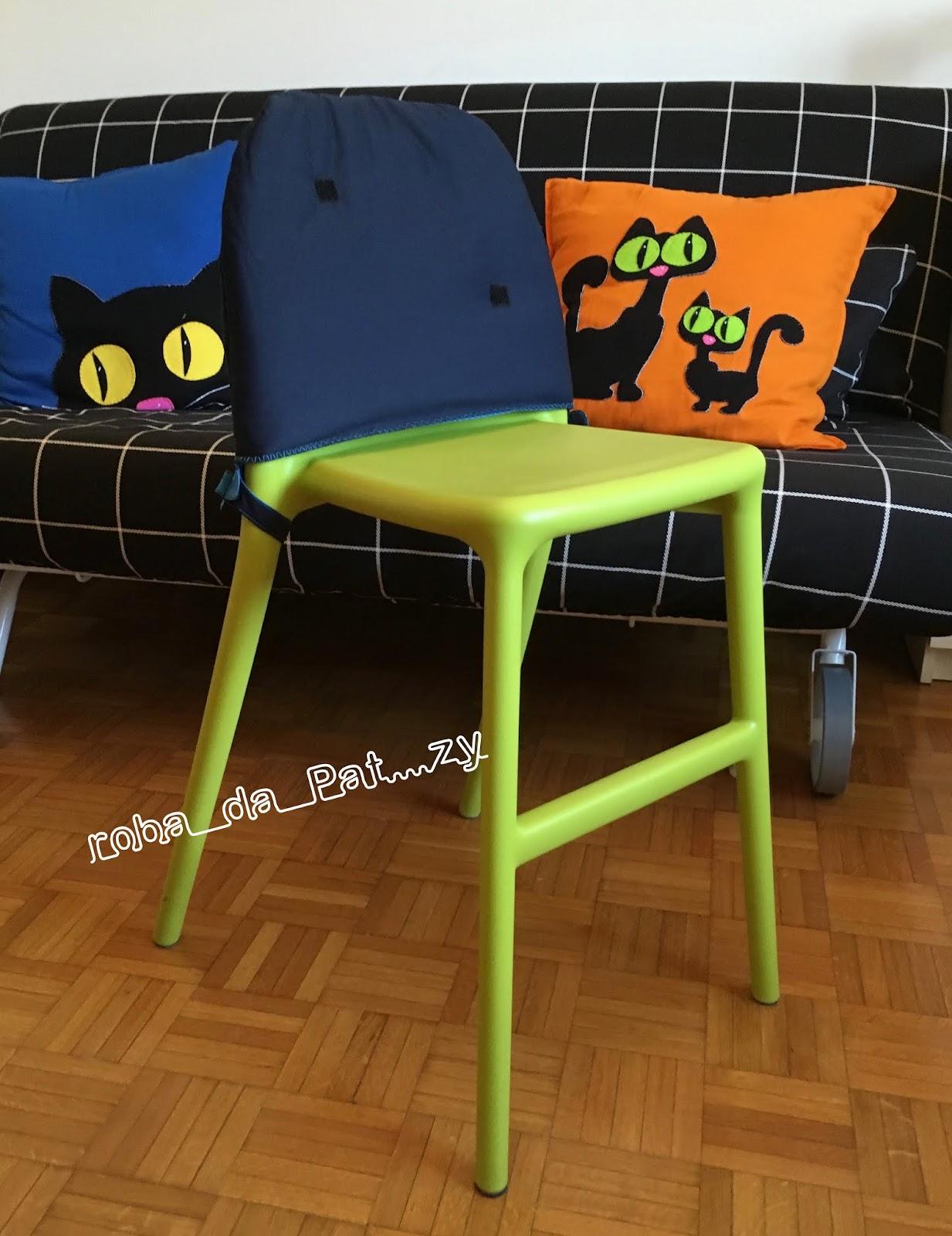 Roba da pat zy seggiolone ikea con decori pannolenci - Ikea sedia junior ...