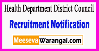 HDDC Health Department District Council Recruitment Notification 2017 Last Date 03-07-2017