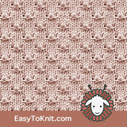 Textured Knitting 10: Knot | Easy to knit #knittingstitches #knittingpattern