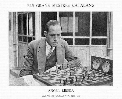 Ángel Ribera Arnal, Campeón de Ajedrez de Cataluña 1933-34