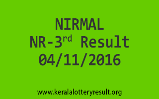 NIRMAL NR 3 Lottery Results 4-11-2016