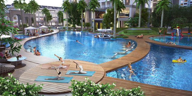 Bể bơi đẳng cấp tại Louis City Đại Mỗ