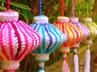 crochet amigurumi chinese lantarns